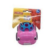 Nuby Play Pals Pink Car Rattle Toy