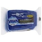 Dawn Sponges, Premium Scrubber, Non-Scratch, 3 Pack!