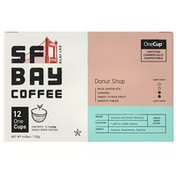 SF Bay Coffee Donut Shop Blend OneCup K-Cup Compatible Coffee Pods