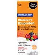 Best Choice Berry Flavor Children's Ibuprofen Oral Suspension