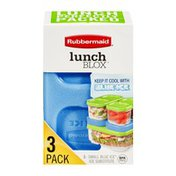 Rubbermaid Lunch Blox Small Blue Ice Substitute - 3 CT