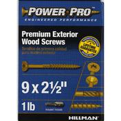 Power Pro Screws, Wood, Exterior, 2-1/2 Inch