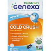 Genexa Kids' Cold Crush Organic Açaí Berry Flavor Chewable Tablet