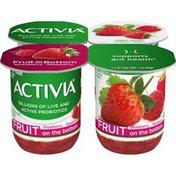 Activia Fruit on the Bottom Strawberry & Raspberry Yogurt