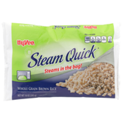 Hy-Vee Steam Quick, Whole Grain Brown Rice