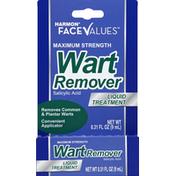 Harmon Face Values Wart Remover, Maximum Strength, Liquid Treatment