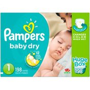 Pampers Baby Dry Pampers Baby Dry Newborn Diapers Size 1 198 Count Diapers