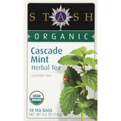 Stash Tea Herbal Tea, Organic, Cascade Mint, Caffeine Free