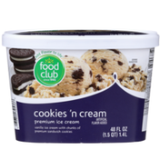 Food Club Cookies 'N Cream Vanilla Premium Ice Cream With Chunks Of Premium Sandwich Cookies