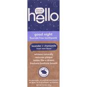 hello Toothpaste, Fluoride Free, Good Night, Lavender + Chamomile, Fresh Mint Flavor