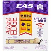EAS Pure Milk Creamy Vanilla EAS AdvantEDGE Protein Powder Creamy Vanilla Bars Packets