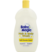 Baby Magic Hair & Body Wash, Soft Powder Scent