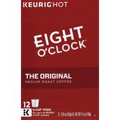 Eight O'Clock Coffee Coffee, Medium Roast, The Original, K-Cup Pods