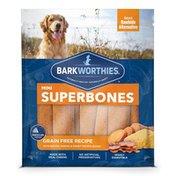 Barkworthies Grain Free Bacon, Cheese & Sweet Potato Boost Mini Superbones Dog Chews