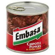 Embasa Peppers, Chipotle, in Adobo Sauce, Can