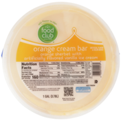 Food Club Orange Cream Bar Orange Sherbet With Vanilla Ice Cream