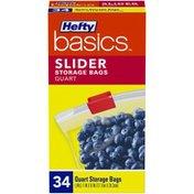 Hefty Slider Quart Storage Bags
