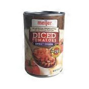 Meijer Petite Diced Tomatoes With Sweet Onion