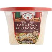 Stella Shredded Cheese, Parmesan & Romano