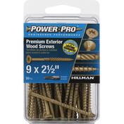 Power Pro Wood Screws, Premium, Exterior, 2.5 Inch