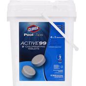 Clorox Chlorinating Tablets, Active 99, Step 2, 3 Inch