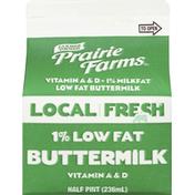 Prairie Farms Buttermilk, 1% Low Fat, 1% Milkfat, Local Fresh