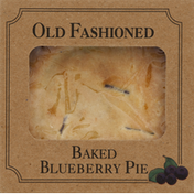 Table Talk Blueberry Pie, Baked