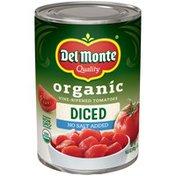 Del Monte Organic Vine-Ripened Diced No Salt Added Tomatoes