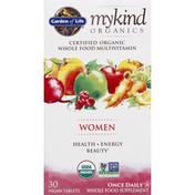 Garden of Life Multivitamin, Women, Vegan Tablets