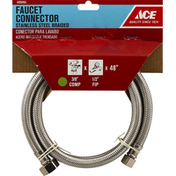 Ace Bakery Faucet Connector, Stainless Steel, Braided, 48 Inch