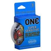 One Condoms, Lubricated, Super Sensitive