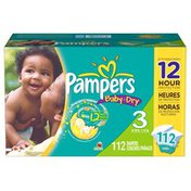 Pampers Baby Dry Diapers Size 3 Super Pack 112 Count