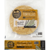 La Tortilla Factory Tortillas, Yellow Corn & Wheat, Handmade Style