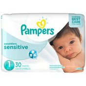 Pampers Premium Pampers Swaddlers Sensitive Newborn Diapers Size 1 30 count  Diapers