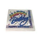 Unique Retro Rainbow Happy Birthday Party Lunch Napkins