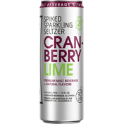 Smirnoff Sparkling Seltzer, Cranberry Lime, Spiked