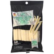 Ahold String Cheese, Reduced Fat, Part-Skim, Mozzarella, Low-Moisture
