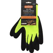 Cordova Coated Gloves, Hi-Vis Foam Latex, Large