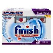 Finish Power & Free Quantum Dishwater Detergent Powerball Capsules - 20 CT