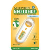 Neosporin + Pain Relief Neo To Go! First Aid Antiseptic/Pain Relieving Spray