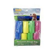 Ruffin' It Biodegradable Pet Waste Bags, 16 Rolls 240 Bags Total