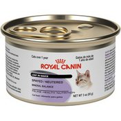 Royal Canin Feline Health Nutrition Spayed/Neutered Loaf in Sauce Cat Food