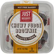 Just Desserts Chewy Fudge Brownie, Gluten Free