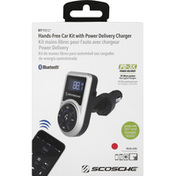 Scosche Hands-Free Car Kit, with Power Delivery Charger, Bluetooth