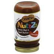 NuttZo Organic, Seven Nut & Seed Butter, Chocolate, Crunchy, Jar
