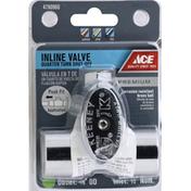 Ace Bakery Inline Valve, Quarter Turn Shut-Off