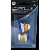 GE Fuse, 2 Pack 15 Amp Type T/TL Time Delay
