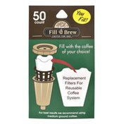 Fill 'n Brew Coffee For One Replacement Filters - 50 CT