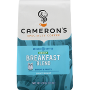 Camerons Coffee, Ground, Light Roast, Breakfast Blend, Decaf