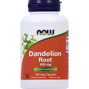 Now Dandelion Root, 500 mg, Veg Capsules